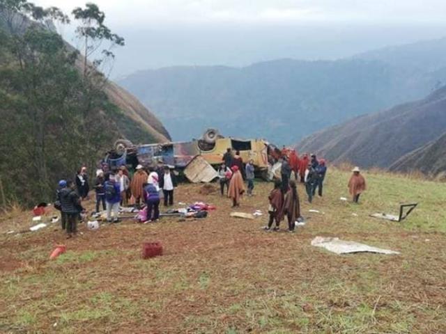 Tragedia en Otuzco: caída de bus al abismo deja hasta el momento casi 20 muertos