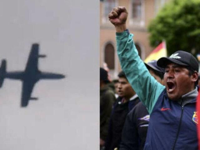Bolivia: aviones militares sobrevuelan a baja altura la capital por protestas