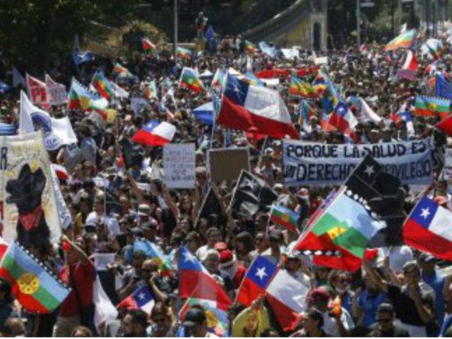 Chile: actos violentos marcaron protestas de este martes