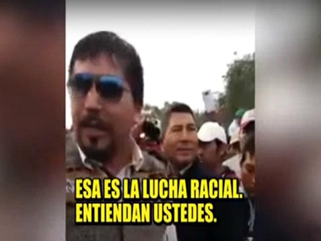 Gobernador regional de Arequipa, Élmer Cáceres, emite discurso racista