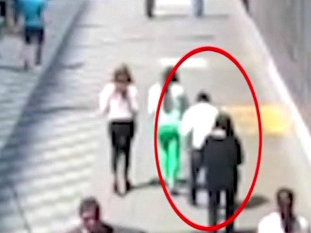San Isidro: delincuente robó celular a una mujer en plena calle Las Begonias