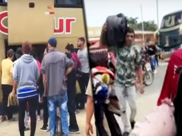 Tumbes: intervienen bus con 12 extranjeros indocumentados