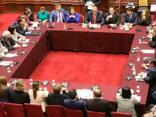 Comisión Permanente estableció grupos para revisar cuatro decretos de urgencia