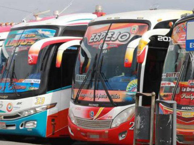 MTC plantea que buses interprovinciales no recojan ni dejen pasajeros en su trayecto