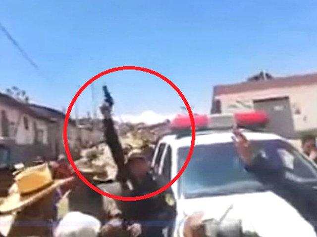 Ayacucho: policía lanza disparos al aire para dispersar a manifestantes