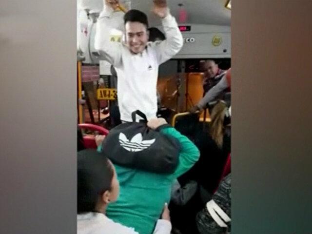 Ancón: pasajeros capturaron a delincuentes que asaltaron bus