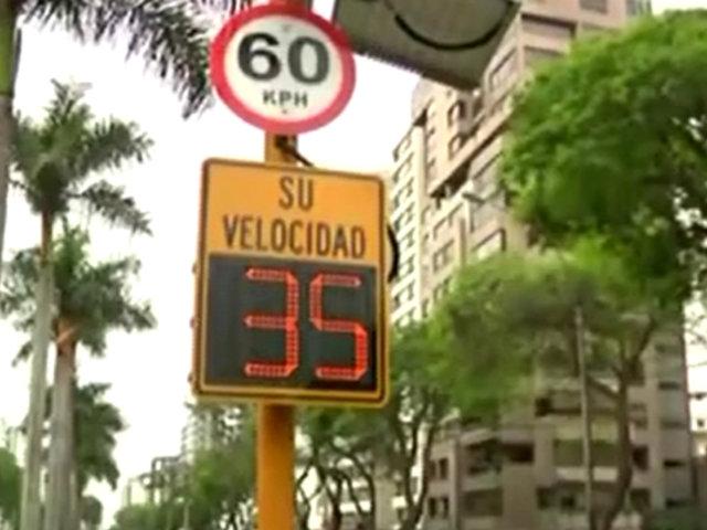 Radar de velocidad en San Isidro: infracciones se redujeron un 30%