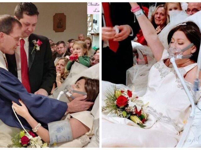 La conmovedora historia de joven con cáncer que se casó solo 18 horas antes de morir