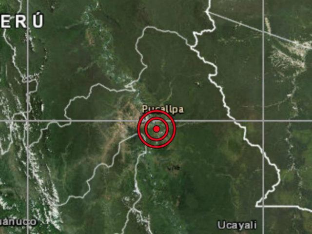 Sismo de magnitud 5.2 se registró esta tarde en Ucayali