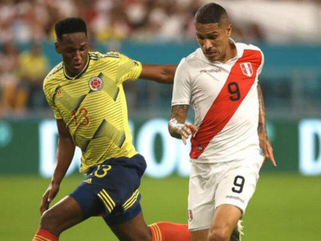 Perú cayó 1 a 0 con Colombia en su último partido del año