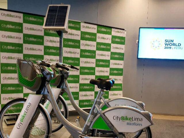Citybike: bicicletas públicas en Miraflores usan energía solar