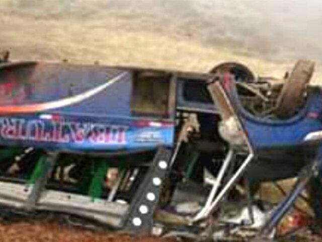 10 meses de prisión preventiva para chofer de bus que cayó en Otuzco