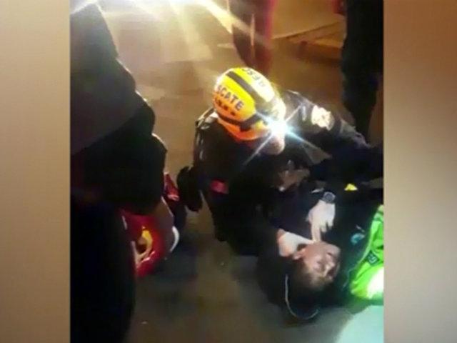 Cercado de Lima: serena resulta herida tras ser atacada por mujer