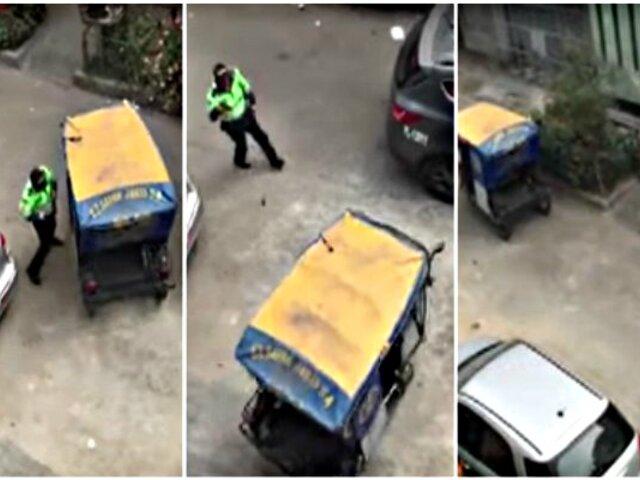 Policía que dejó huir a delincuentes en mototaxi habría sido sancionado