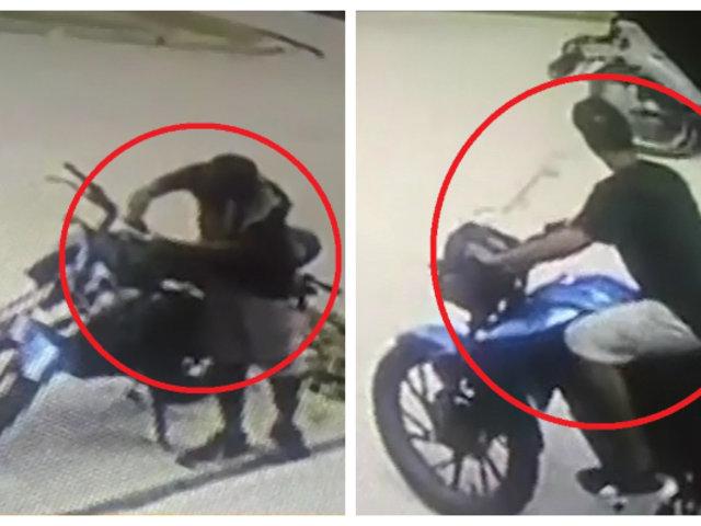 Iquitos: sujeto roba moto lineal en menos de 15 segundos