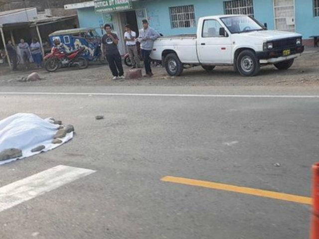 La Libertad: anciana de 78 años perdió la vida tras ser embestida por vehículo