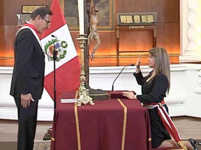 María Hinostroza Pereyra juramentó como nueva ministra de Salud