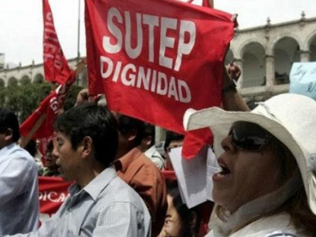 """Sutep ratifica paro nacional para este jueves: """"Queremos un sueldo digno"""""""