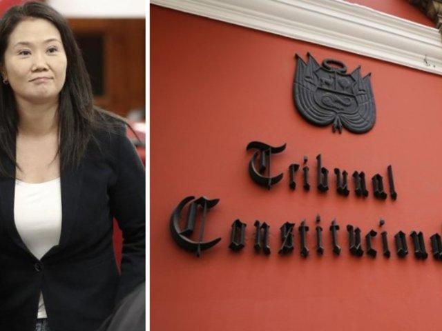 Keiko Fujimori: TC continuará debate sobre hábeas corpus la próxima semana