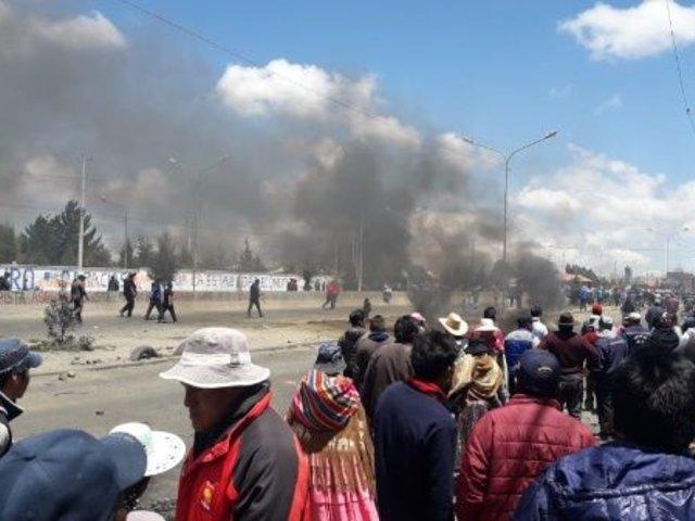 Bolivia: enfrentamiento entre manifestantes y la Policía deja 3 muertos