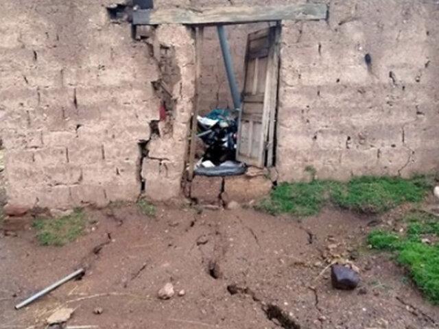 Cusco: alarma por grietas en la tierra que han dañado 12 viviendas