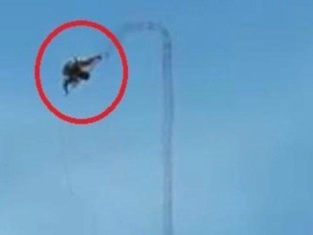 Hombre cae de 58 metros de altura mientras reparaba antena