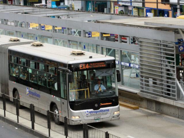 Metropolitano anuncia nuevo horario de atención a partir de este miércoles 25