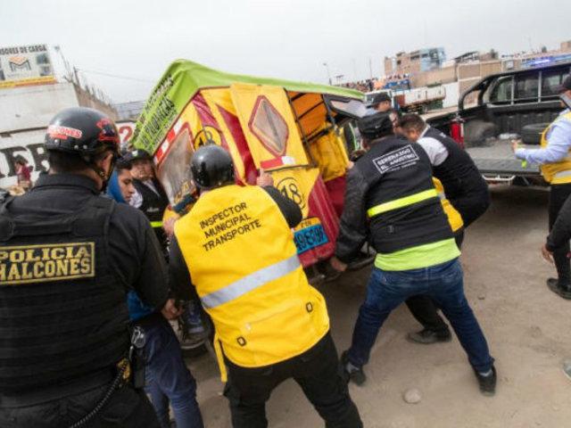 El Agustino: mototaxistas informales y fiscalizadores desataron violento enfrentamiento