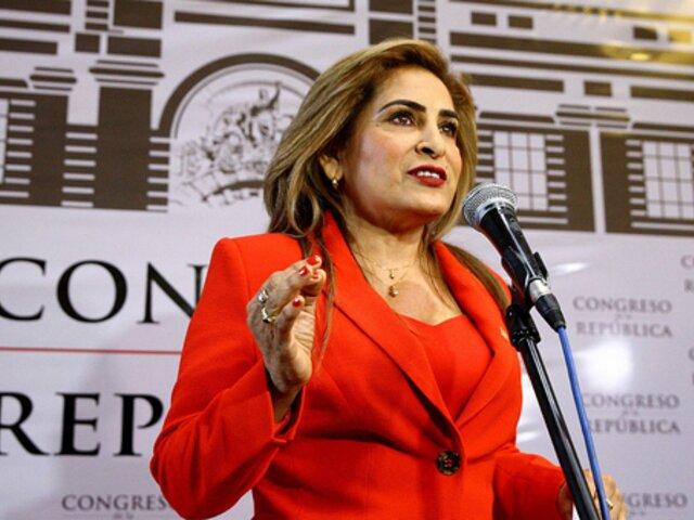 Maritza García no subsanará observación del JNE y declina a postular al Congreso