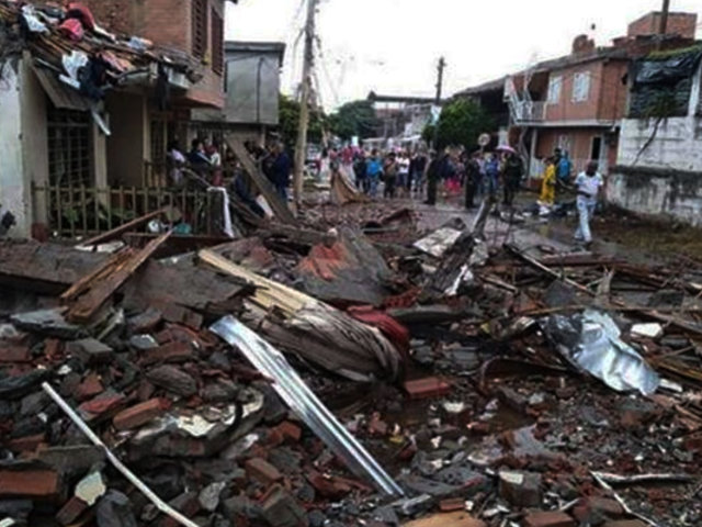 Colombia: ataques con explosivos dejan 3 muertos y más de 20 viviendas afectadas