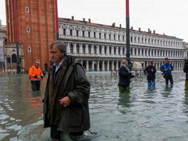 Cambio climático: Venecia en su momento más critico por inundaciones