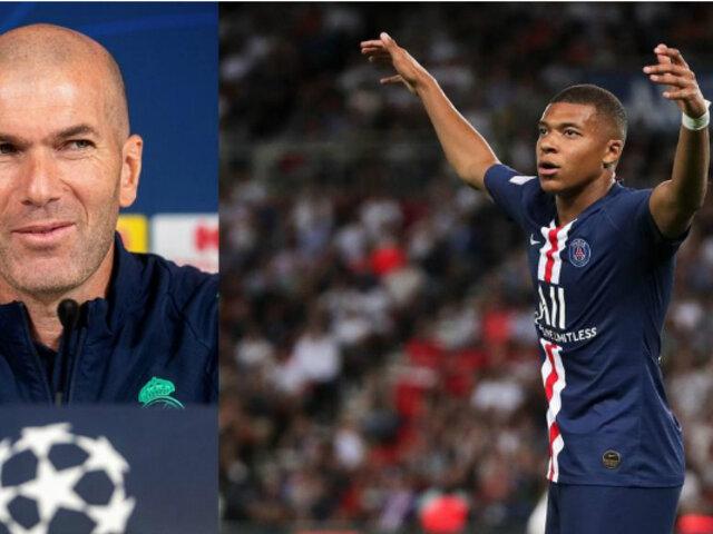 """Zidane: """"Estoy enamorado de Mbappé como persona"""""""