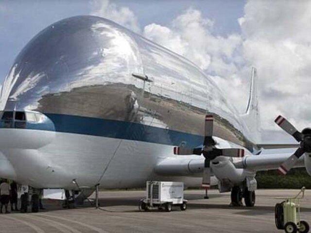 Conozca el avión que esconde la nave con la que NASA volverá a la Luna