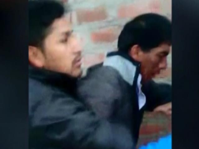 Huancayo: vecinos capturaron a sujeto que atropelló a dos personas