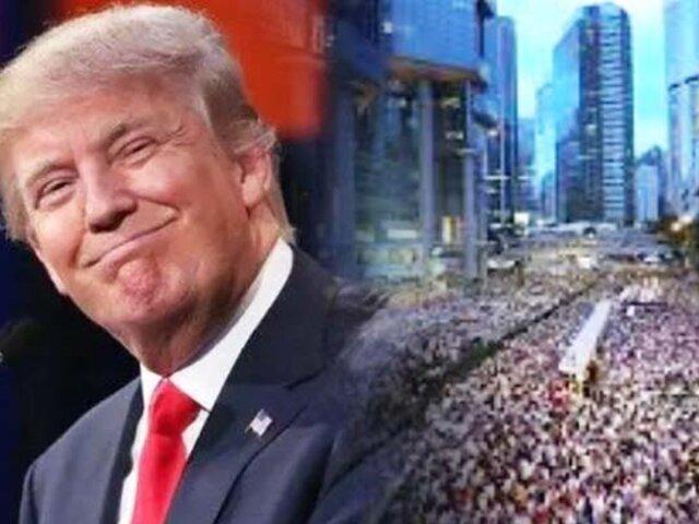 China amenaza a Trump con represalias por ley de apoyo a protestas en Hong Kong
