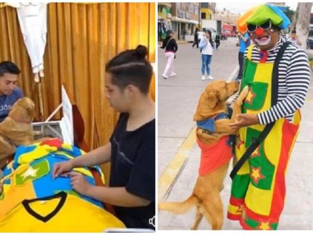 Perro acude a velorio de su dueño para despedirlo