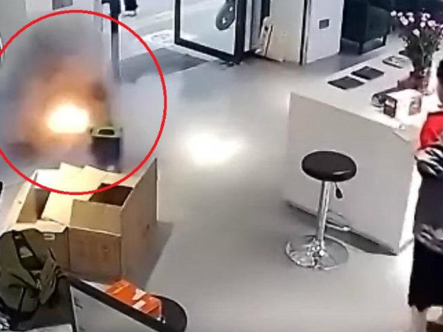 China: batería de auto eléctrico explotó mientras cargaba