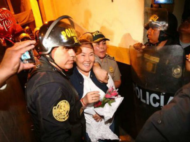 Así salió en libertad Keiko Fujimori del Penal Anexo de Mujeres de Chorrillos