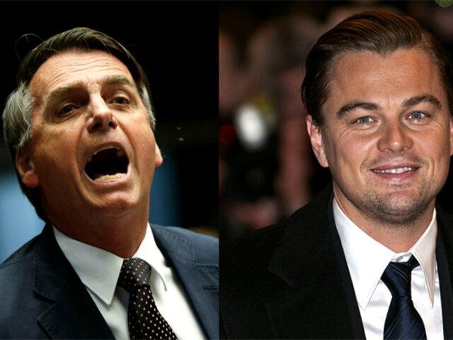 Bolsonaro acusa a Leonardo DiCaprio de financiar los incendios en el Amazonas