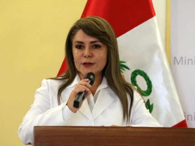 Elizabeth Hinostroza: ministra de Salud dio primera entrevista a medios
