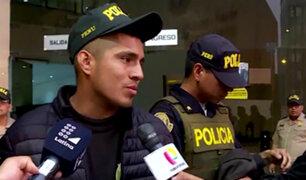 Rímac: falso policía que hacía supuesto reglaje cerca de banco llora tras ser capturado