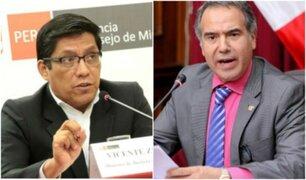 Vicente Zeballos: he convocado al minsitro Petrozzi para que me explique salida de Hugo Coya