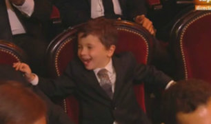 Exceso de ternura: así reaccionó Mateo Messi tras ver a su papá ganar el Balón de Oro