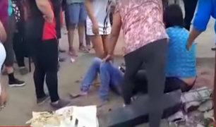 El Agustino: camión fuera de control atropella a tres personas