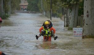 Francia: seis muertos y un fallecido dejan intensas lluvias