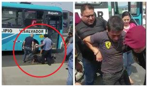 VES: pasajeros capturan a dos delincuentes que intentaron asaltar bus
