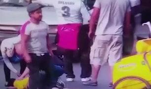 Ate: heladero sale despedido por los aires tras ser arrollado por auto