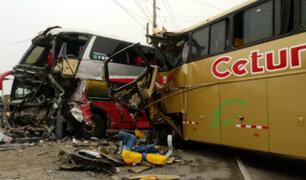 Excesiva velocidad habría provocado accidente entre buses interprovinciales en La Libertad