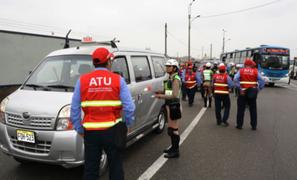 Operativo de la ATU culminó con 27 vehículos internados en el depósito