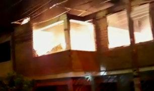SJM: familia salva de morir tras voraz incendio por corto circuito